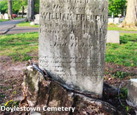 Cemetery Tours of Doylestown Cemetery and Laurel Hill Cemetery in Philadephia