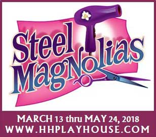 An immediate critical and popular hit in its premier production in New York, Steel Magnolias revolves around the lives of a group of gossipy southern ladies in a small-town beauty parlor. A Comedy/Drama with sharp, funny dialogue, lovable characters, and a truly touching ending, Steel Magnolias received rave reviews on Broadway. Julia Roberts was nominated for an Academy Award in the Best Supporting Actress category for her performance in the 1989 film version of this play. Ticket price of $64.00 includes show, entrée, sides and salad, dessert buffet, hot coffee or hot tea, tax, and gratuity.
