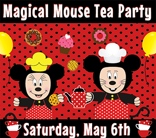 At our Magical Tea Party on May 6, dress to impress in your favorite costume!  Exciting activities for children of all ages! The table will be set with special care. The music will be fine; the treats will be divine. The crafts may take some time. And the games will blow your mind. The best part of our Magical Tea Party is being with your friends and family!