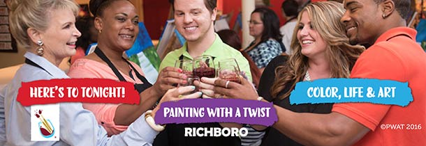Outstanding painting pARTies for kids and adults; offered in-studio and at offsite businesses and homes.
