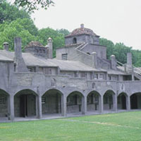 This National Historic Landmark is maintained as a working history museum by Pennsylvania's County of Bucks, Department of Parks and Recreation. Handmade tiles are still produced in a manner similar to that developed by the pottery's founder and builder, Henry Chapman Mercer (1856-1930). Mercer was a major proponent of the Arts & Crafts Movement in America.