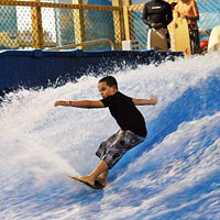 It's not a mirage! Immense and intense, our huge indoor water park and entertainment center provides thrilling adventures for everyone in your caravan! Surf indoors on our Rip Curl. Zip through miles of water slides. Test your skills at Sammy's Trading Post Game Center or, quench your thirst in Sam Dune's Cafe.  Sahara Sam's truly is an oasis -- conveniently located in West Berlin, New Jersey, you're just a few 'smiles' away from year 'round family fun!