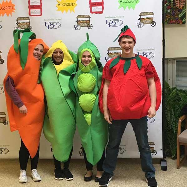 Members of Future Business Leaders of America at Souderton Area Senior High School dressed up as vegetables for last year's Locally Grown Showcase.
