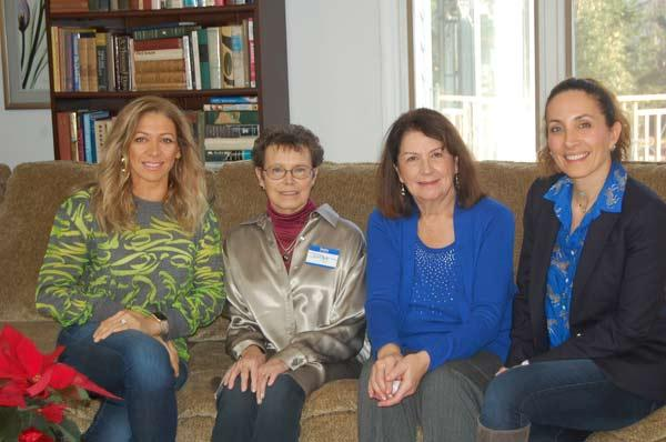 Left to Right - Dania Bawadkji, Judy Franlin (LWV President), Connie Borichevsky (Hostess), Dr. Abouasaleh