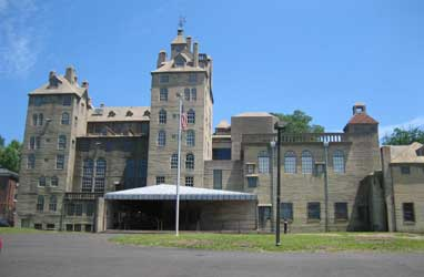 'The Mercer Museum in Doylestown is operated by The Bucks County Historical Society which also operates Fonthill Castle, former home of the museum's founder, archeologist Henry Mercer.' from the web at 'http://buckscountyalive.com/images/home-collage/20-mercer-museum-doylestown.jpg'