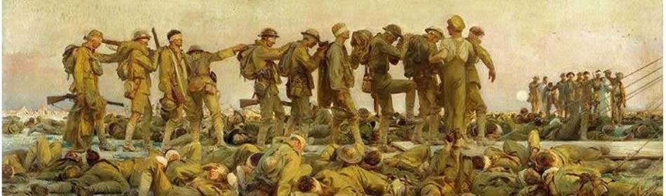 John Singer Sargent - Gassed, 1918 - Oil on canvas - (on display at Imperial War Museum, London, UK) in the Bucks County, PA area