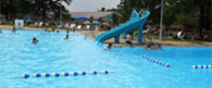 Public swimming pools, swim clubs, water parks, and tubing